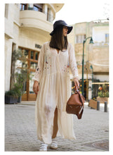 Load image into Gallery viewer, PIPER EMB MAXI BUTTON DOWN DRESS