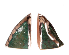 Float Copper 'Butchite' Book Ends #175