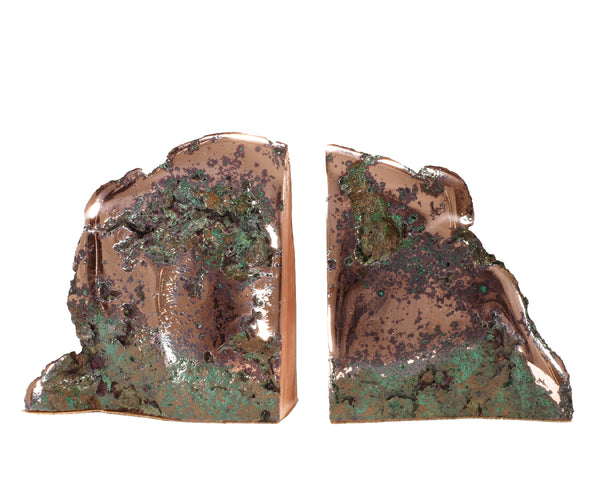 Float Copper 'Butchite' Book Ends #174