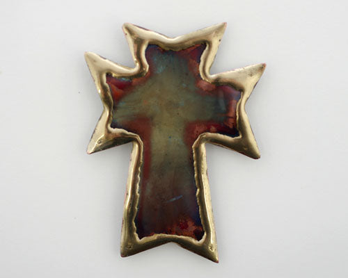 Copper Art Cross Magnet