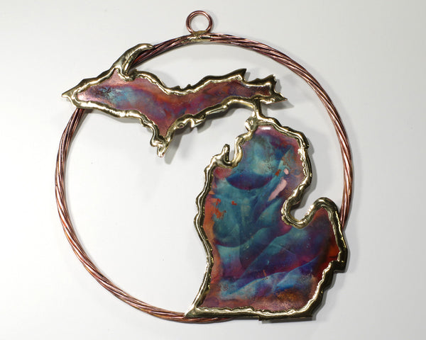 Copper Art Michigan in Braided Circle