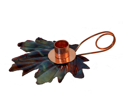 Maple leaf candleholder