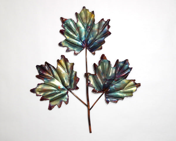 Copper Art 3 Leaf Maple Wall Decor