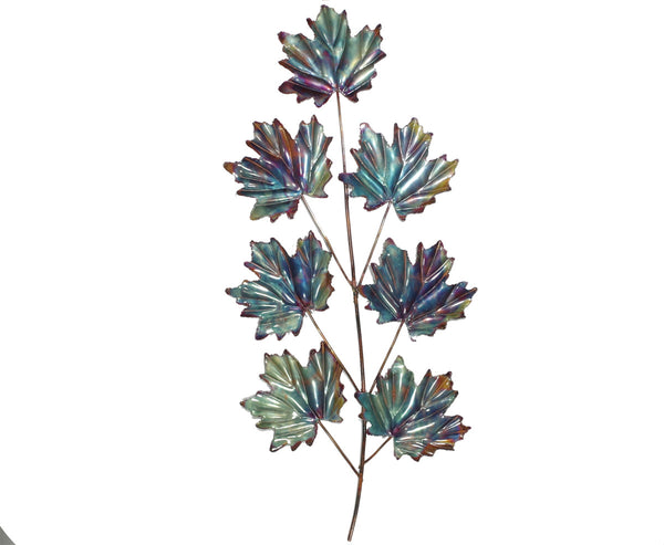 Copper Art Large 7 Leaf Maple Wall Décor