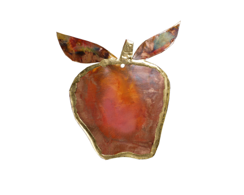Copper Art Apple Ornament