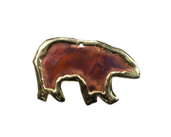 Copper Art Bear Ornament