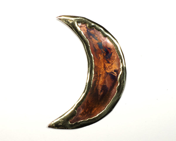 Copper Art Moon Ornament