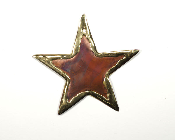 Copper Art Small Star Ornament