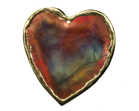 Copper Art Large Heart Ornament