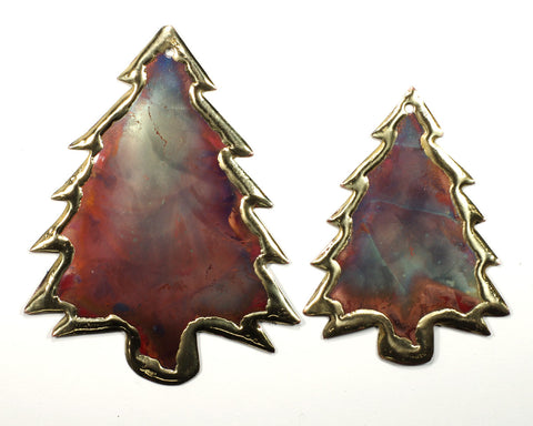 Copper Art Small Pine Tree Ornament