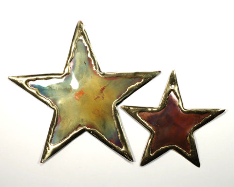 Copper Art Large Star Ornament
