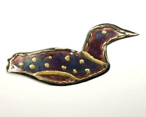 Copper Art Loon Ornament