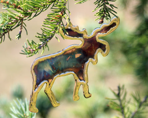 Copper Art Moose Ornament