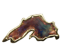 Copper Art Lake Superior Ornament