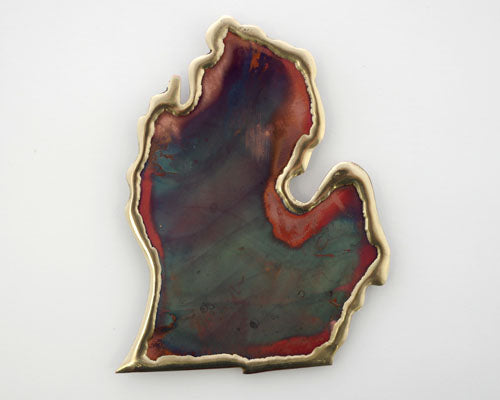 Copper Art Large Lower Michigan Magnet