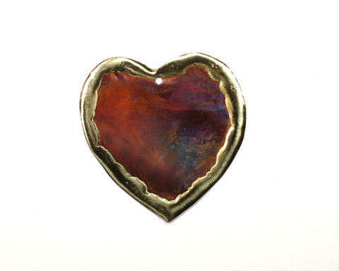 Copper Art Small Heart Ornament