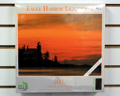 Summer evening at Eagle Harbor Lighthouse 500 piece puzzle