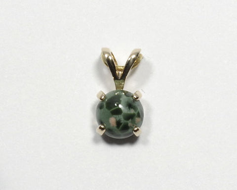 6mm Greenstone Pendant in 14K yellow gold