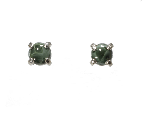5mm Greenstone Earrings #101