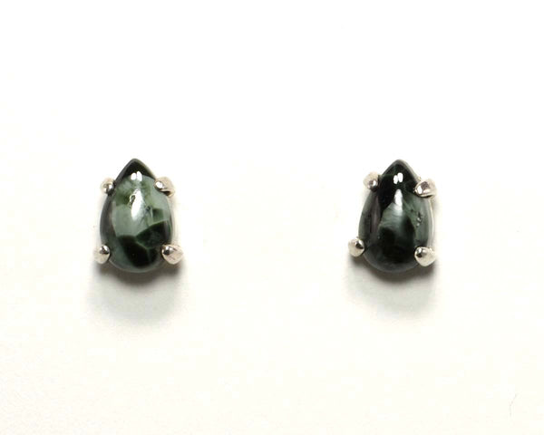 8x5mm Greenstone Pear Earrings