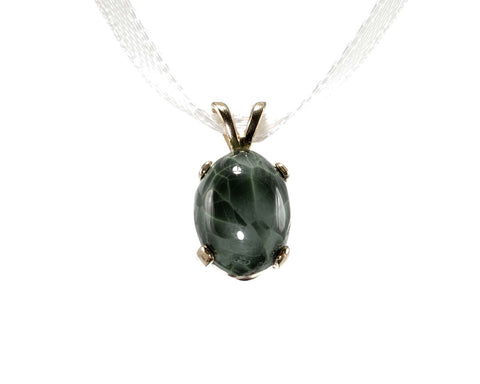 10x8mm Greenstone Pendant in 14k Y Gold