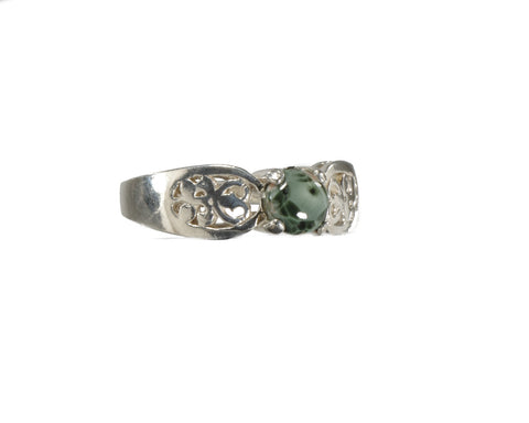 5mm Greenstone ring with Filigree setting #220