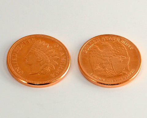 1oz Copper Coin in Indianhead Penny design