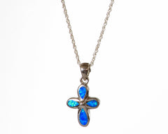 Cross Lab Created Opal Pendant