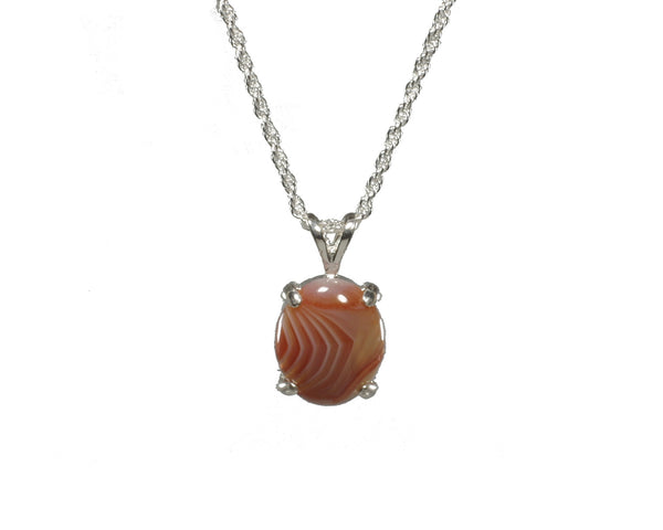 12x10mm Lake superior Agate Pendant - Red and White  #204