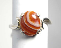 10x8mm Lake Superior Agate Ring