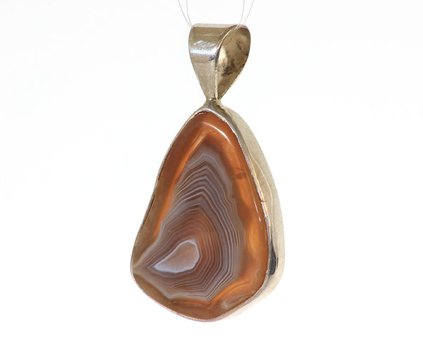 34mm x 26mm Lake Superior Agate free form pendant