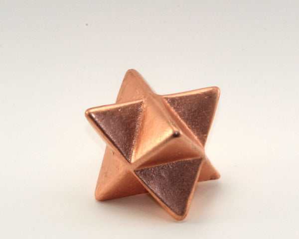 Large Solid Copper Merkaba metaphysical