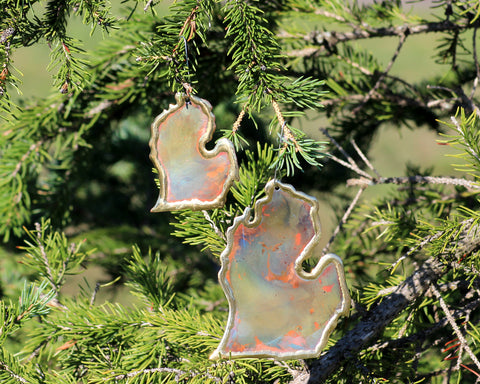 Copper Art Small Lower Michigan Ornament