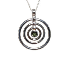 7 mm Moldavite in circle setting