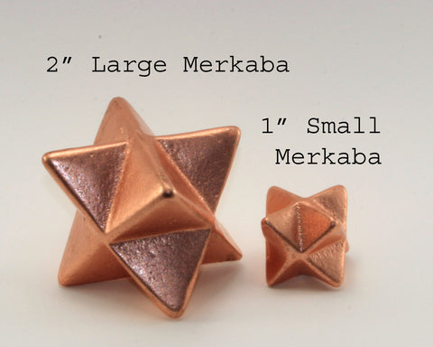 Solid Copper Merkaba Small