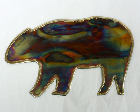 Copper Art Bear Wall Decor