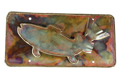 Copper Art Trout License Plate