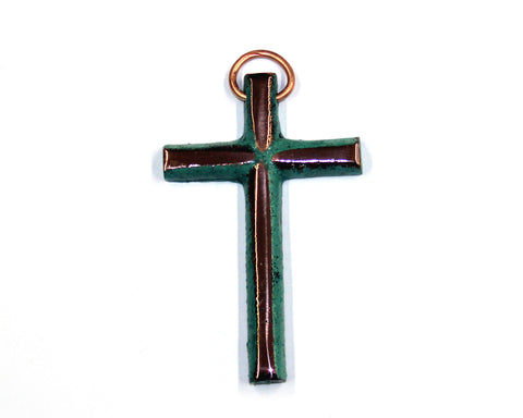 Solid Copper Cross - Mini #1
