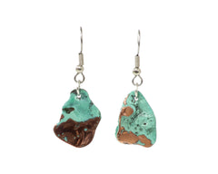 Splash copper earrings