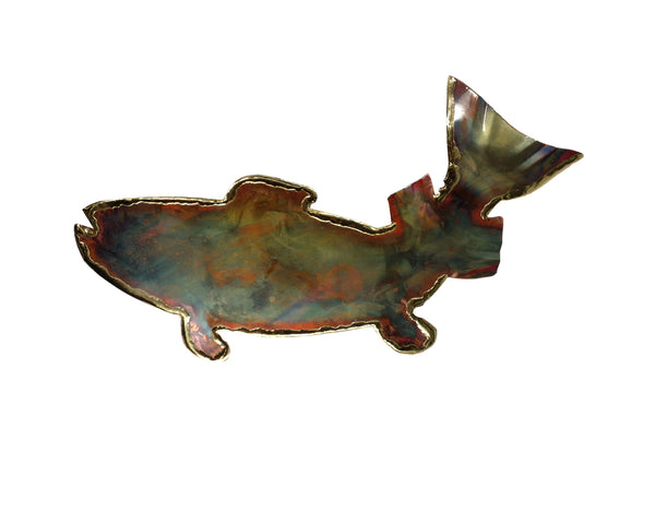 Copper Art Small Trout Wall Decor