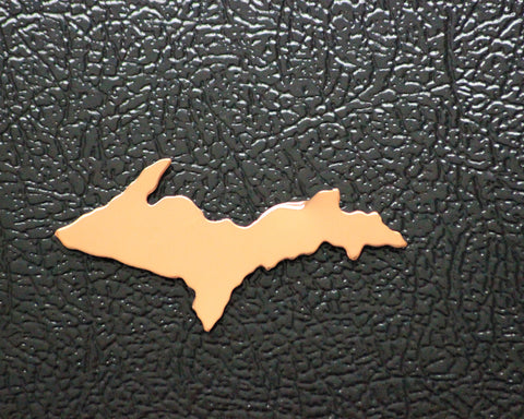 Solid Copper Upper Peninsula Magnet