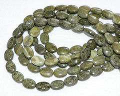 Epidote Beads Oval