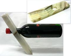 Green Onyx Wine Bottle Holder