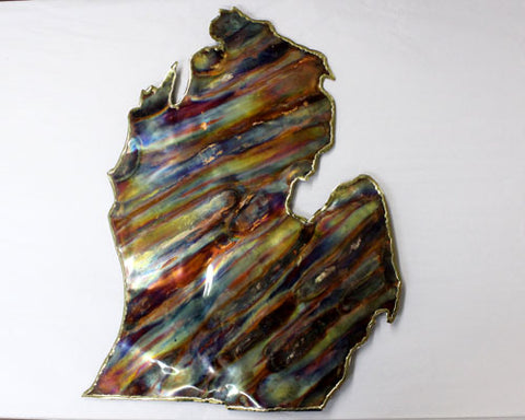 Copper Art Large Lower Michigan Wall Decor