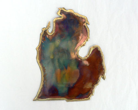 Copper Art Small Lower Michigan Wall Decor