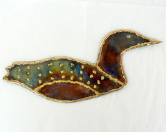 Copper Art Large Loon Wall Decor