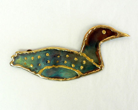 Copper Art Small Loon Wall Decor