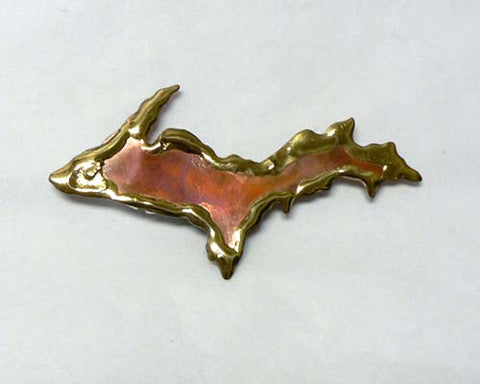 Copper Art Small Upper Michigan Magnet