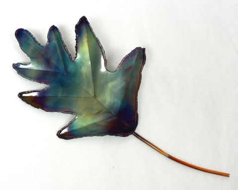 Copper Art Large Single Oak Leaf