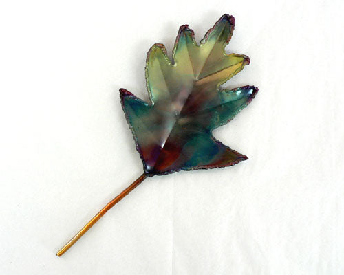 Small Copper Art Oak Leaf